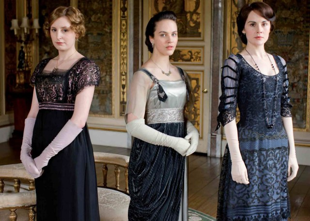 The sisters Crawley- Lady Edith, Lady Mary and Lady Sybil, season 2