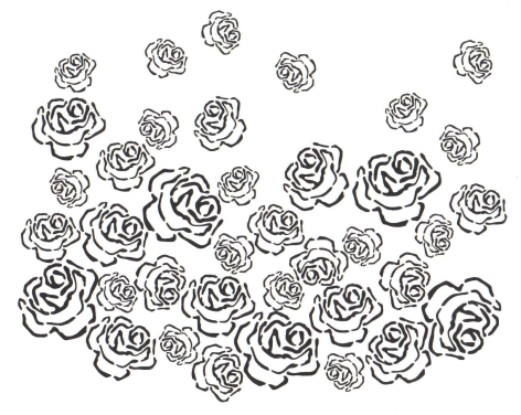 Kristina's Rose Stencil Artwork - From Alabama Studio Sewing + Design