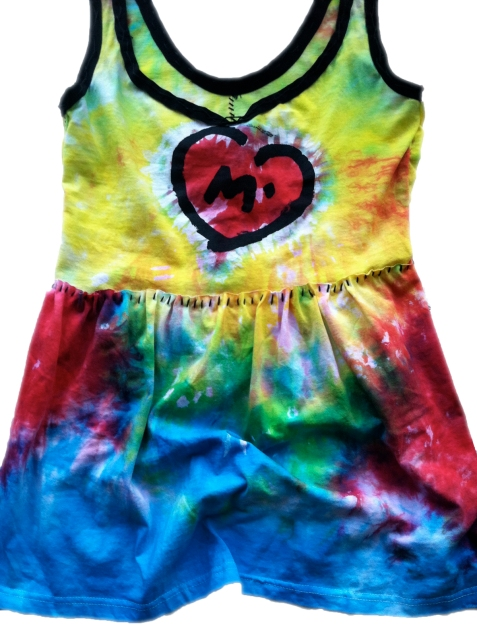 tie dye baby doll front